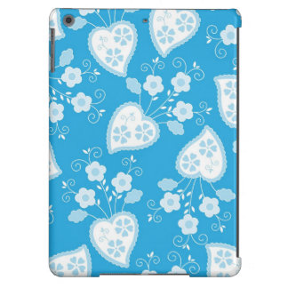 Love with hearts and flowers iPad air cases