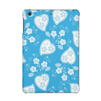 Love with hearts and flowers iPad mini cover