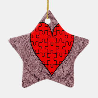 Love With Motif Batik Ceramic Star Decoration
