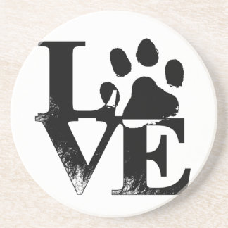 LOVE With Paw Coaster
