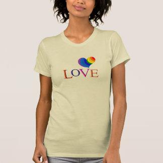 Love with Rainbow heart Tees