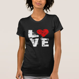 LOVE - With Red Heart Tee Shirt