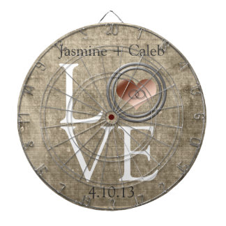 Love-With This Ring by Shirley Taylor Dartboard