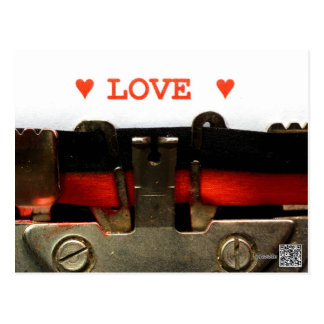 Love with two hearts postcard