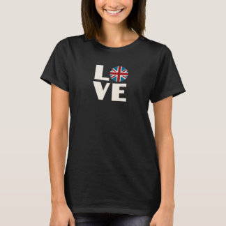 LOVE with Union Jack Flag T-Shirt