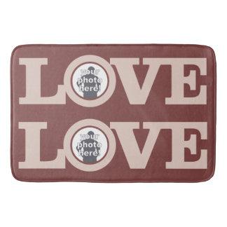 LOVE with YOUR 2 PHOTOS custom custom bath mats