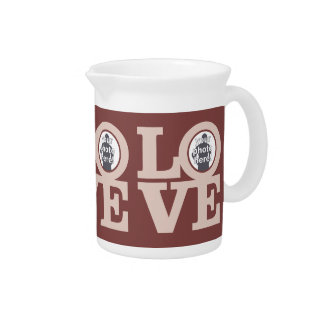 LOVE with YOUR 3 PHOTOS custom pitcher