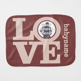 LOVE with YOUR PHOTO custom burp cloth