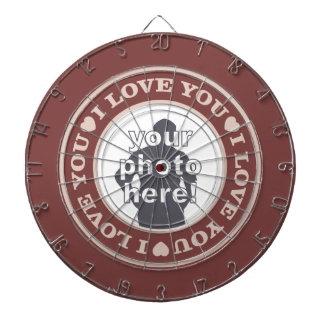 LOVE with YOUR PHOTO custom dart board