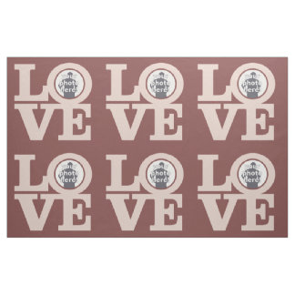 LOVE with YOUR PHOTO custom fabric