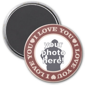 LOVE with YOUR PHOTO custom magnet