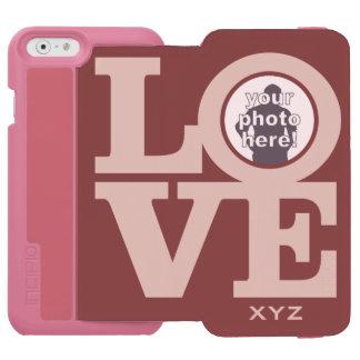 LOVE with YOUR PHOTO custom monogram cases Incipio Watson™ iPhone 6 Wallet Case