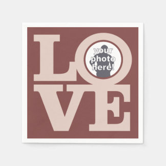LOVE with YOUR PHOTO custom paper napkins