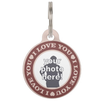 LOVE with YOUR PHOTO custom pet tags