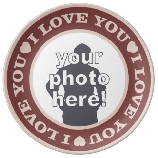 LOVE with YOUR PHOTO custom porcelain plate