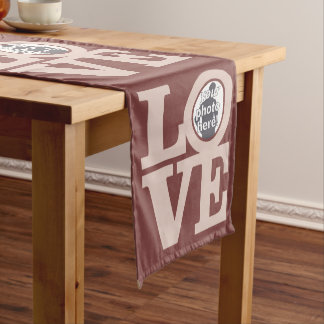 LOVE with YOUR PHOTO custom table runner