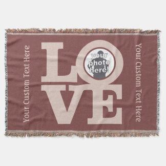 LOVE with YOUR PHOTO custom throw blanket