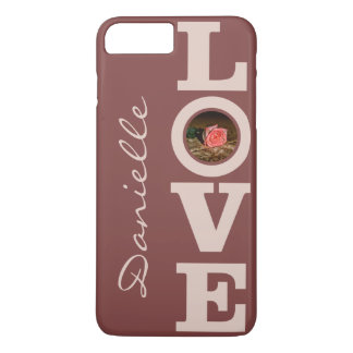 LOVE with YOUR PHOTO & NAME custom phone cases