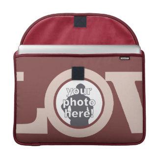 LOVE with YOUR PHOTOS custom MacBook sleeves