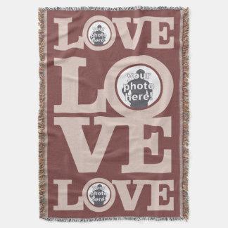 LOVE with YOUR PHOTOS custom throw blanket