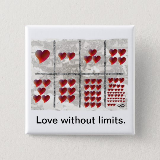 Love without limits 15 cm square badge