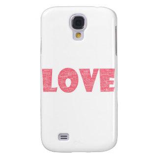 LOVE Word ARt Samsung Galaxy S4 Cases