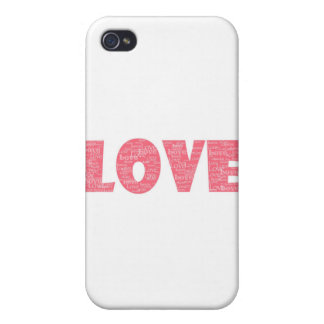 LOVE Word ARt iPhone 4/4S Cases
