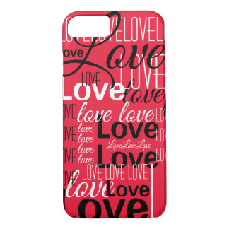 Love Word Art Pattern iPhone 8/7 Case