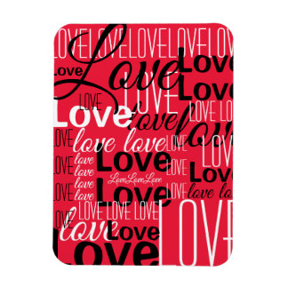 Love Word Art Pattern Magnet
