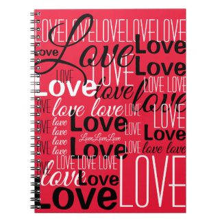 Love Word Art Pattern Notebook