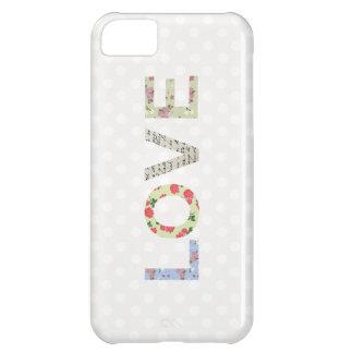 Love word art polka dot iphone 5 case