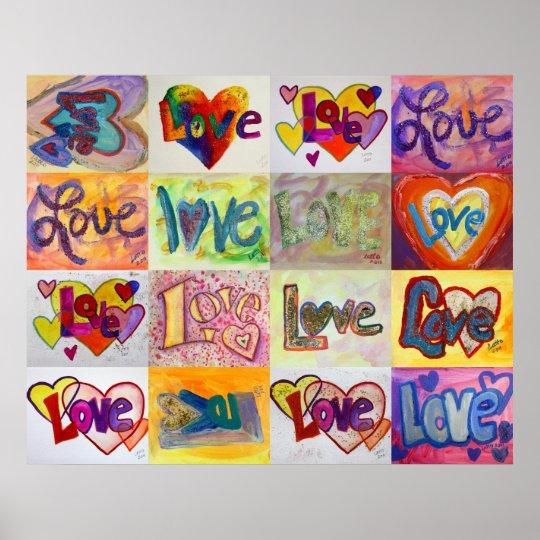 Love Word Artwork Paintings Poster Art Print