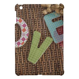 Love Word at Woven Rattan iPad Mini Cases