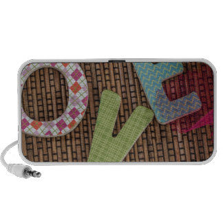 Love Word at Woven Rattan iPhone Speaker