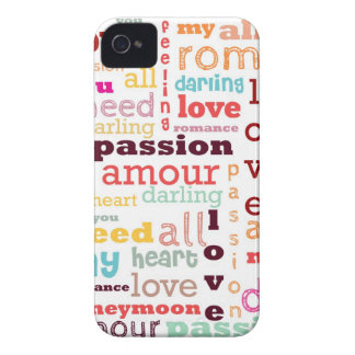 Love Word Cloud iPhone 4/4S Case-Mate Barely There iPhone 4 Case-Mate Case