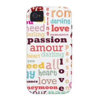 Love Word Cloud iPhone 4 Case-Mate Vibe™ Case-Mate iPhone 4 Cover