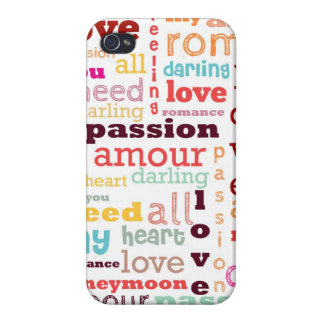Love Word Cloud iPhone 4 Case Savvy Glossy Finish