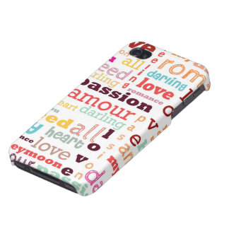 Love Word Cloud iPhone 4 Case Savvy Matte Finish