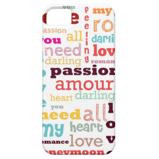 Love Word Cloud iPhone 5 Case-Mate Barely There™ iPhone 5 Cases