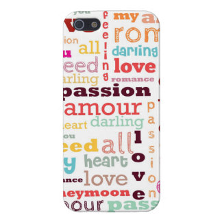 Love Word Cloud iPhone 5 Case Savvy Glossy Finish