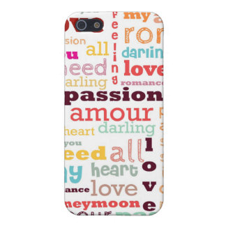 Love Word Cloud iPhone 5 Case Savvy Matte Finish