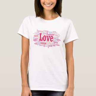 LOVE word cloud T Shirt