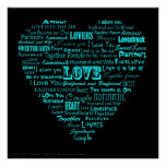Love word collage poster