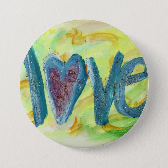 Love Word Fresh Spring Art Pin Pendant Buttons