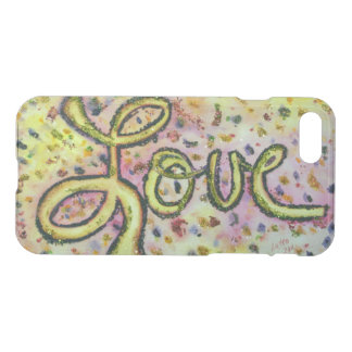 Love Word Inspirational Art Glitter iPhone 7 Case