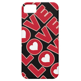 love word with a heart iPhone 5 covers