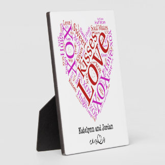 Love Words Heart Plaque