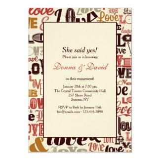 Love Words Invitation