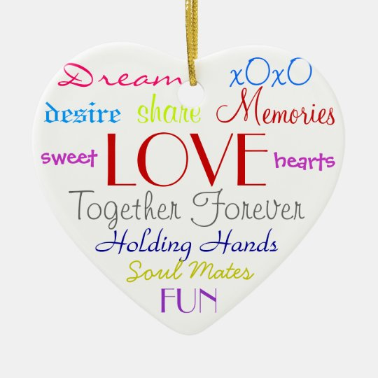 Love Words Ornament
