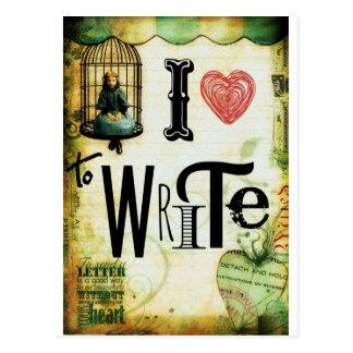 Love Writing Postcard